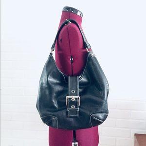 Black Leather Shoulder Bag Michael Kors